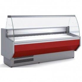 Vitrina Expositora Refrigerada Cristal Curvo Fondo 800 MM por 2,5 Metros de Largo Docriluc