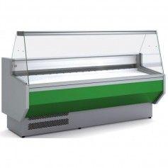 Vitrina Expositora Refrigerada Cristal Recto Fondo 800 MM por 2 Metros de Largo Docriluc
