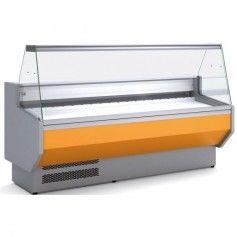 Vitrina Expositora Refrigerada Cristal Curvo Fondo 800 MM por 1,5 Metros de Largo Docriluc
