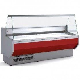 Vitrina Expositora Refrigerada Cristal Recto Fondo 1100 MM por 2,5 Metros de Largo Docriluc