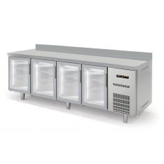 Mesa fría SNACK refrigeración Gama Speed Puerta de Cristal largo 2,5 Metros Docriluc