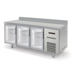 Mesa fría GN 1/1 refrigeración Gama Speed Puertas de Cristal MGVD-180-F Docriluc