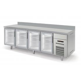 Contra Mostrador Refrigerado Puertas de Cristal Gama Speed largo 2,5 Metros Docriluc