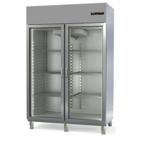 Armario Gastronorm refrigeración Speed Puertas en Cristal - largo 1,35 Metros Docriluc