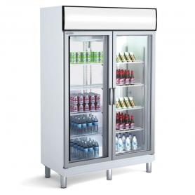 Expositor refrigeración AGPA-125 Puertas abatibles - largo 1,25 Metros Docriluc