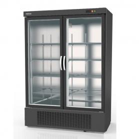 Expositor refrigeración DEBR-1302 Apertura reversible - largo 1,37 metros Negro Docriluc
