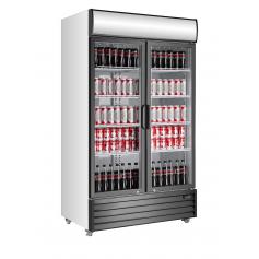 Armario expositor refrigerado de bebidas puertas abatibles EXPO 1000 TN Fred
