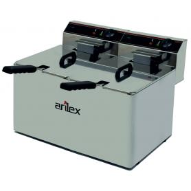 Freidora Eléctrica de 10+10 Litros Sin grifo