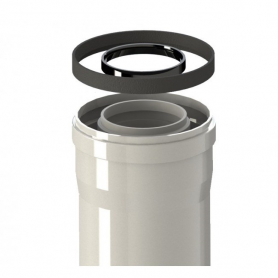Tubo Calentador Estanco Coaxial Macho Hembra 60 / 100 de 250 mm