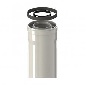 Tubo Calentador Estanco Coaxial Macho Hembra 60 / 100 de 500 mm
