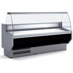 Vitrina Expositora Refrigerada Cristal Curvo Fondo 940 MM por 1,3 Metros de Largo Docriluc