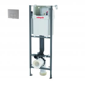 Cisterna empotrada Initio con pulsador design aluminio cepillado
