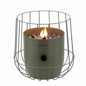 Fuego de sobremesa a gas Cosiscoop Basket Verde Oliva