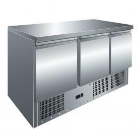 Mesa fría GN1/1 3 Puertas Refrigerada Compacta de 1365 x700 x860h mm PEKIN