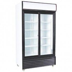 Armario expositor refrigerado de 1000 litros 2 Puertas Correderas de Vidrio PEKIN