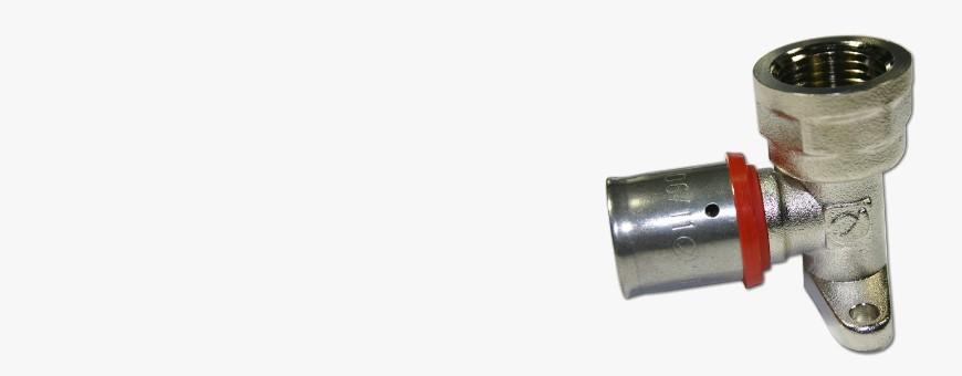Codo Rosca Hembra con Soporte Multicapa